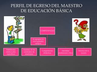 PERFIL DE EGRESO DEL MAESTRO DE EDUCACI�N B�SICA