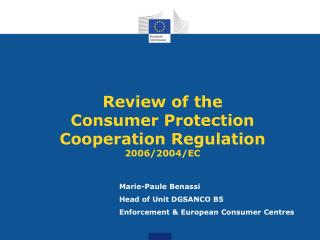 Review of the Consumer Protection Cooperation Regulation 2006/2004/EC