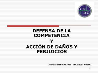 DEFENSA DE LA COMPETENCIA Y ACCIÓN DE DAÑOS Y PERJUICIOS