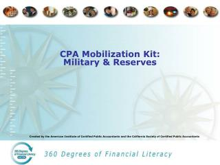 CPA Mobilization Kit: Military & Reserves