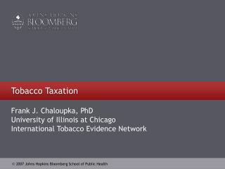 Tobacco Taxation