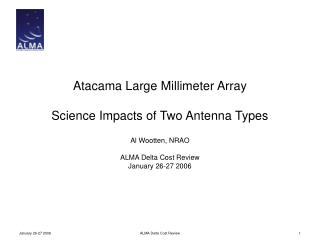 Atacama Large Millimeter Array Science Impacts of Two Antenna Types