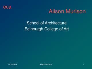 Alison Murison
