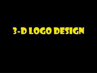 3-D Logo Design