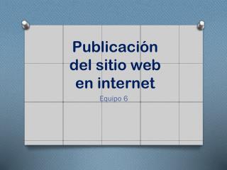 Publicación del sitio web en internet