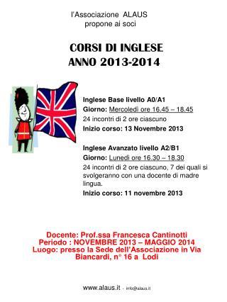 CORSI DI INGLESE ANNO 2013-2014