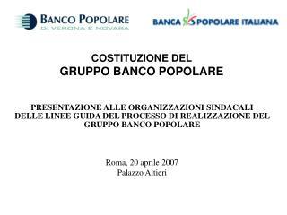 COSTITUZIONE DEL  GRUPPO BANCO POPOLARE