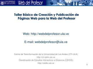 Taller Básico de Creación y Publicación de Páginas Web para la Web del Profesor