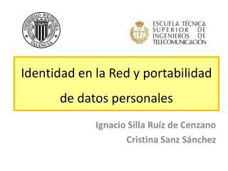 Identidad en la Red y portabilidad de datos personales