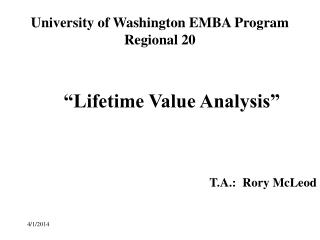 University of Washington EMBA Program Regional 20
