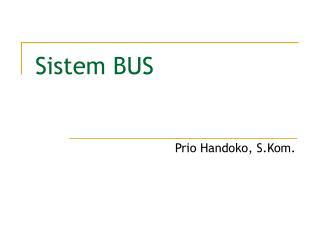Sistem BUS