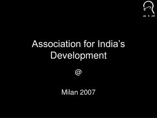 Association for India's Development