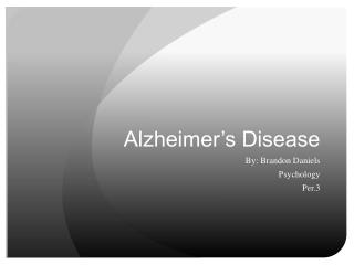 Alzheimer�s Disease