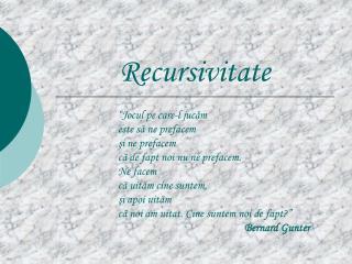 Recursivitate