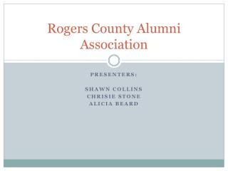 Rogers County Alumni Association