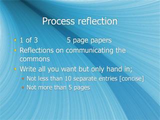 Process reflection