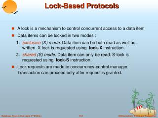 Lock-Based Protocols