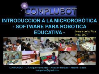 INTRODUCCIÓN A LA MICROROBÓTICA - SOFTWARE PARA ROBÓTICA EDUCATIVA -