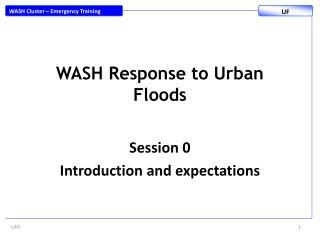 WASH Response to Urban Floods