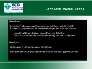 Kontakt zu B�rgerinitiativen gegen Flug- und Bahnl�rm