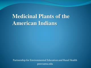 Partnership for Environmental Education and Rural Health peer.tamu