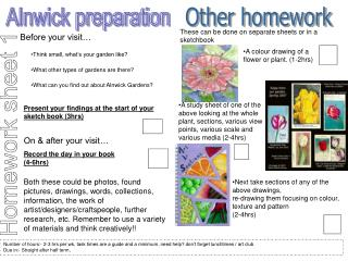 Homework sheet 1