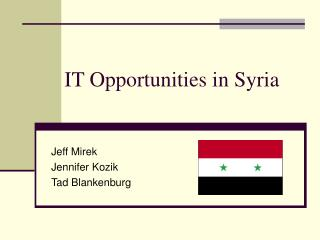 IT Opportunities in Syria