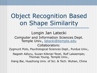 Object Recognition Based on Shape Similarity