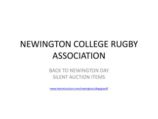 NEWINGTON COLLEGE RUGBY ASSOCIATION