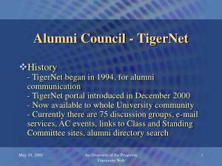 Alumni Council - TigerNet