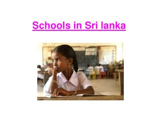Schools in Sri lanka