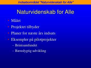 Naturvidenskab for Alle