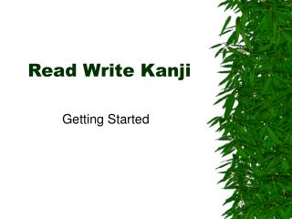Read Write Kanji
