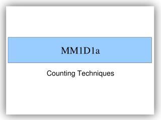 MM1D1a