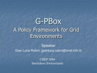 G-PBox
