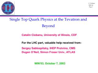 Single Top Quark Physics at the Tevatron and Beyond
