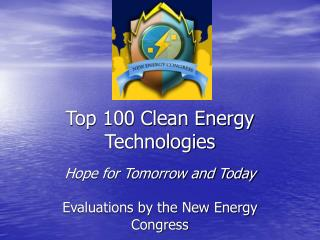 Top 100 Clean Energy Technologies