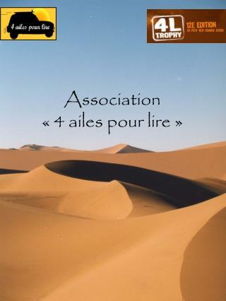 Association «4 ailes pour lire»