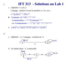 IFT 313  - Solutions au Lab 1