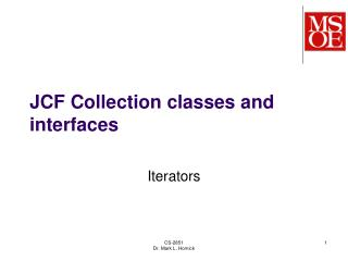 JCF Collection classes and interfaces