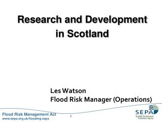 Research and Development  in Scotland