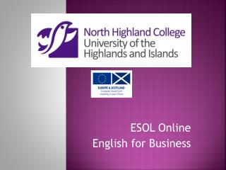 ESOL Online   English for Business