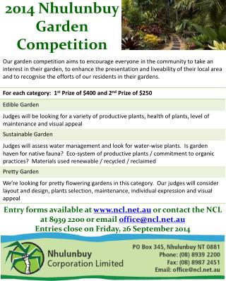 To register or for  more information, contact the NCL on  8939 2200 or email office@ncl.au