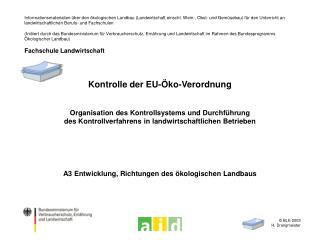 Kontrolle der EU-Öko-Verordnung