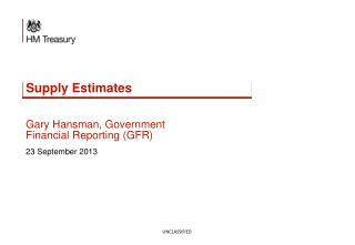 Supply Estimates