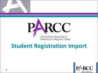 Student Registration Import