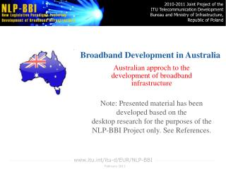 Broadband Development in Australia