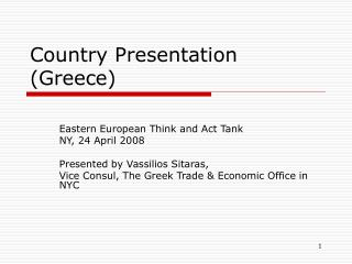 Country Presentation (Greece)