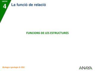FUNCIONS DE LES ESTRUCTURES