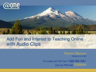 Add Fun and Interest to Teaching Online with Audio Clips